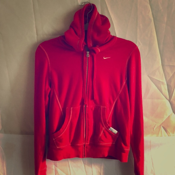 Women Nike Red hooded Sweater Hoodie. M 5b64cf651537952698c8783e 81dc8429d0